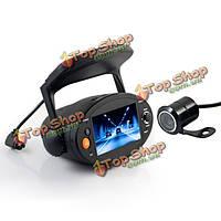 2.7-дюймов HD 720p DVR автомобиля GPS двойной линзы автомобиль камера видеомагнитофон