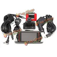 А11 высокой четкости 1080p 2.7 дюймов двумя объективами автомобиля DVR камеры заднего вида черный ящик тире