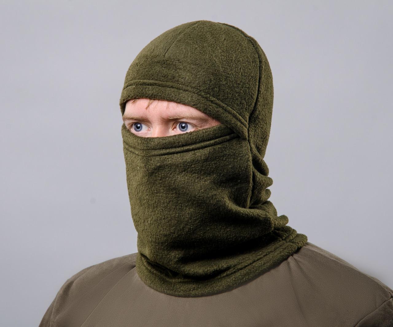 Шапка-маска хаки зимняя