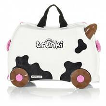 Детский чемоданчик на колесах  TRUNKI FRIEDA COW