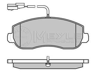Тормозные колодки передние  с датчиком на Renault Master III  10-> —  Meyle (Германия) - 0252514718/W