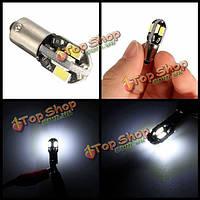 2шт 12v BA9S 2w 100lm 6000K T4W белый 6 SMD LED лицензия приборной панели широкий свет лампы мотоциклы