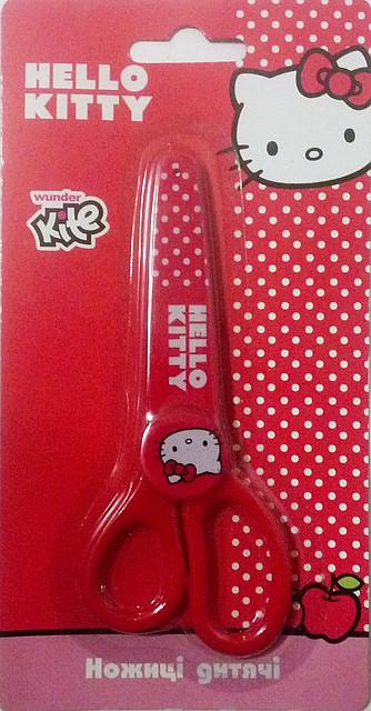 "Ножницы в пластиковом чехле ""Hello Kitty"""