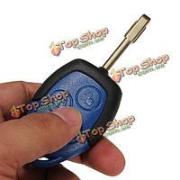 Форд Транзит подключить 3 кнопки дистанционного ключа синий чехол с uncut клинок