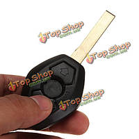 Корпус брелка удаленного ключа для БМВ 3 кнопки с лезвием