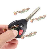 4 кнопки дистанционный ключ оболочка для Toyota карола Фе 2008-2012 uncut клинок