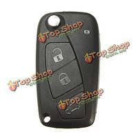 Флип фоб ключ чехла лезвие с 3 кнопки для Фиат Гранде панда