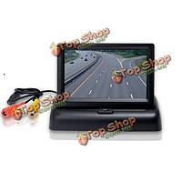 Csx43D-А2 4.3-дюйма монитор автомобиля сложенном ЖК-цифровой дисплей черный