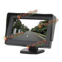 4.3-дюйма TFT LCD  цветной HD в тени заднего вида автомобиля монитор для камеры GPS