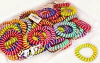 Резинка пружинка разноцветная большая набор 50 шт.