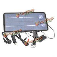12v8w поликристаллического кремния панель солнечных батарей автомобильного аккумулятора зарядное устройство для автомобиля/мотоцикла