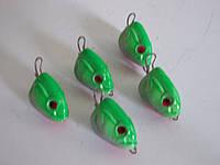 """Розбірна вантаж-головка """"Мальок"""",(упак 25шт) колір: темно-зелений вага:2.7 м"""