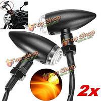 Включить световой индикатор сигнала для мотоцикл Пуля Крейсер измельчитель черный Harley Davidson 4шт 10мм