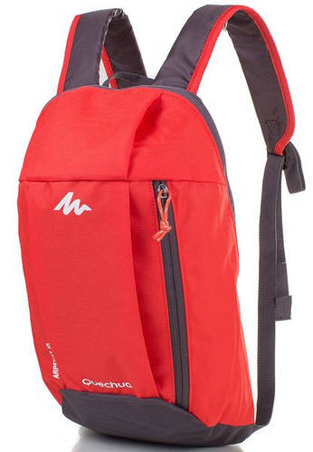 Спортивный яркий женский рюкзак 10 л. QUECHUA (КЕЧУА) ARP001-8 (красный)