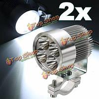 2шт 12w 6000k LED дневной свет фар фара хром для мотоцикла скутер автомобиль грузовик фургон