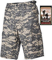 Полевые шорты американской армии, Rip Stop, цифровой камуфляж MFH 01512Q, фото 3