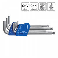 Набор шестигранных ключей S&R 365302109, 1.5-10 мм, 9 шт