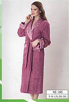 Халат махровый женский длинная шаль фирмы NUSA