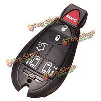 Шесть кнопки дистанционного ключа дело Shell для Крайслер Додж черного цвета