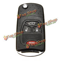 4 Buttons Flip Remote Key Fob Shell Case For Chrysler Dodge Jeep