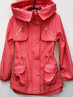 Удлиненная куртка для девочек из плащевки 6310