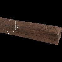Балка Homestar 19х17 (3м) темная