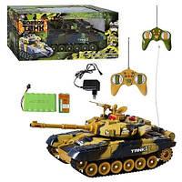 Игрушка танк радиоуправляемый 936496 R/9995: аккумулятор, 2 цвета, поворот башни, 47,5х21х19 см