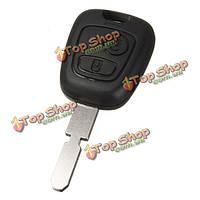 2 кнопка дистанционного ключа оболочки брелок случае лезвие для Peugeot 407 107 205 206 207 307 406