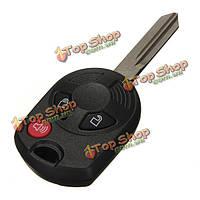 3 кнопки дистанционного ключа keyless вход комбинированный брелок uncut клинок для Форд
