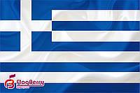 Флаг Греции  80*120 см., искуственный шелк