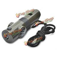 7-1 многофункциональный автомобиль фонарик свисток Mini компас с LED Света