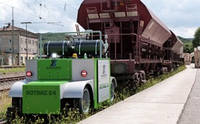 Элетроприводной дорожнорельсовый тяговый модуль вагонов