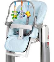 Набор для детского стульчика Peg-Perego Tatamia (чехол и игровая панель) голубой