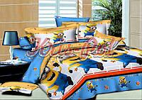 Комплект постельного белья 150*220 (Миньоны)-Ранфорс