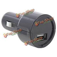 2-в-1 USB DC12-24V автомобильное зарядное устройство адаптер черный + автомобиль вольтметр