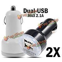 2X постоянного тока 12-24В двойной USB Mini Автомобильное зарядное устройство адаптер для iPad для iPhone