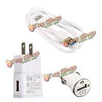 Микро USB3.0 кабель + Автомобильное зарядное устройство + стены дома зарядное устройство для Samsung Galaxy Примечание 3 S5