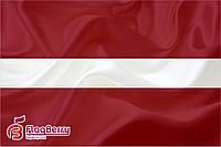 Флаг Латвии 80*120 см., искуственный шелк