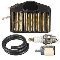 Воздушный фильтр + топливный фильтр + свечи зажигания + топливопровод для Husqvarna 455 455e 460 460 владельца ранчо