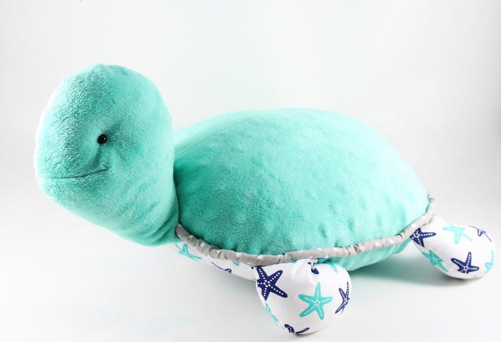 Детская подушка-игрушка с карманом «Черепаха» (Бирюзовый), Sunny Bunny