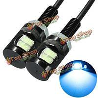 2шт 12 В постоянного тока LED фонарь освещения номерного знака винт болт орлом лампа глаз для мотоцикла автомобиля синий