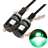 2шт 12 В постоянного тока LED фонарь освещения номерного знака винт болт орлом лампа глаз для мотоцикла автомобиля зеленого цвета