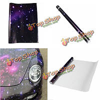 Стикер автомобиля 50cmx150cm галактики винил фольги печатной графики граффити деколи рулон оформление интерьера