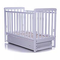 Детская кроватка Соня ЛД12 белая (маятник, ящик) Верес