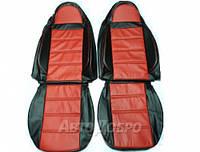 Авточехлы Пилот из экокожи для Daewoo Lanos с 1998- красный