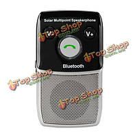 ВЧ - 710S солнечной Bluetooth Handsfree автомобильный комплект поддержка двух телефонов с отдельной динамик
