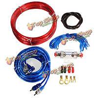 Автомобиль полный комплект проводов датчика усилителя для колонки сабвуферы