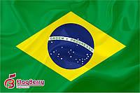 Флаг Бразилии 100*150 см.,флажная сетка.,2-х сторонняя печать