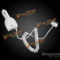 CC37-IPA3 5.0В/4600мА White Dual USB Car Charger For Mobile Phone