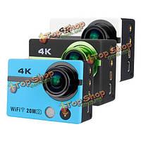 AT300 Wi-Fi водонепроницаемый действия камеры спорт камера с поддержкой 1080p Автомобильный видеорегистратор 2.0-дюймов дистанционное